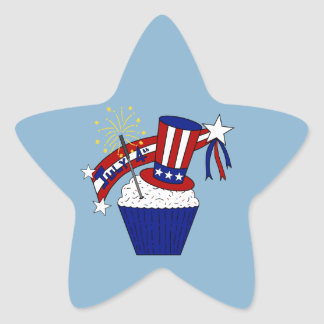 American Independence Day Celebrations Star Sticker
