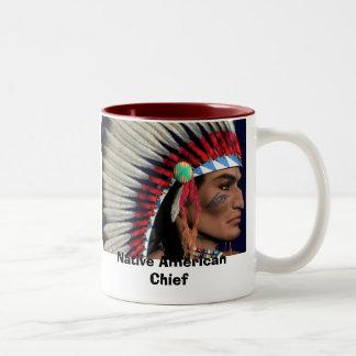 ~American Indian~1024x768, Native American Chief Two-Tone Coffee Mug