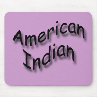 American Indian black Mouse Pad