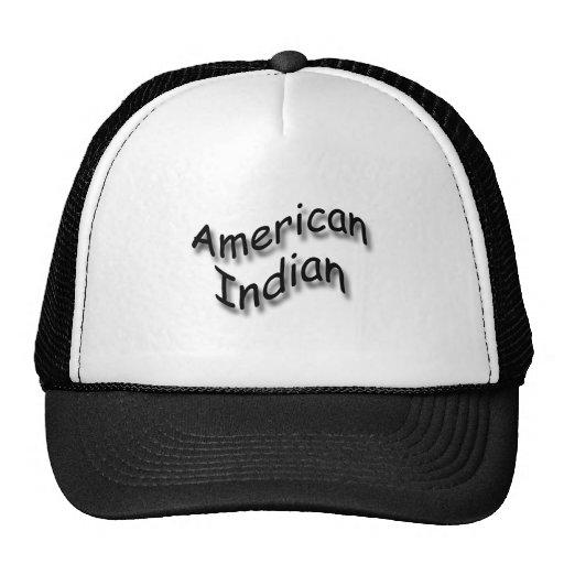 American Indian black Trucker Hats