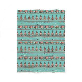 American Indian Cabin Fleece Blanket