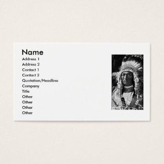 American Indian Chief Business Card
