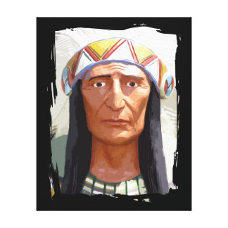 American Indian Chief. Canvas Print