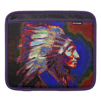 American Indian Chief Graphic Sleeves For iPads