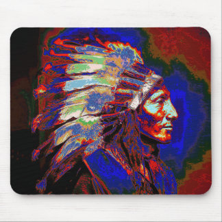 American Indian Chief Graphic Mouse Pad