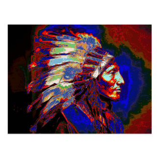 American Indian Chief Graphic Postcard