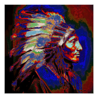 American Indian Chief Graphic Print