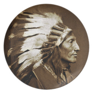 American Indian Chief Plate