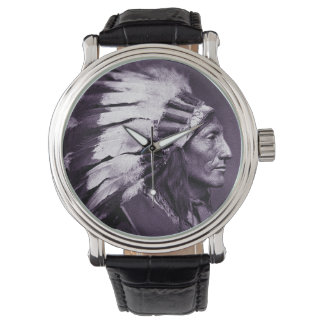 American Indian Chief (Purple) Wrist Watches