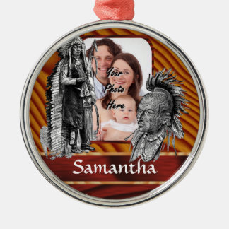 American Indian chiefs Metal Ornament