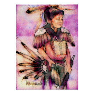 American Indian Dancer Poster