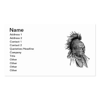 American indian Double-Sided standard business cards (Pack of 100)