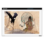 """American Indian Girl with Dream Catcher Laptop Ski Skins For 17"""" Laptops"""