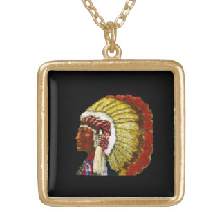 AMERICAN INDIAN GOLD PLATED NECKLACE
