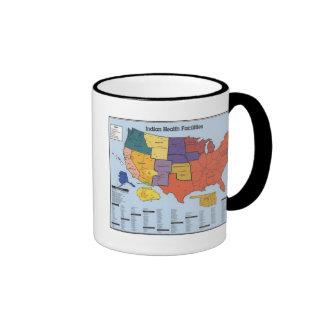 American Indian Health Facilities Map Ringer Coffee Mug