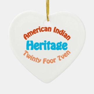 American Indian Heritage - Twinty Foor 7ven Ceramic Ornament