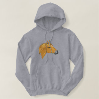 American Indian Horse Embroidered Hoodie