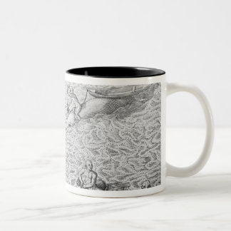 American Indian method of whaling, from an account Two-Tone Coffee Mug