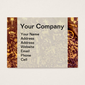 American Indian Newspaper Rock Petroglyph Ancient Business Card