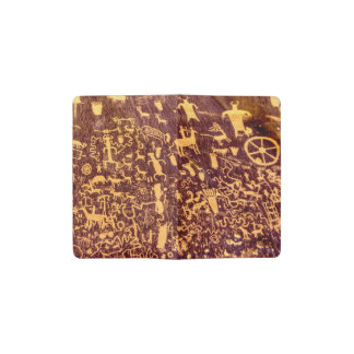 American Indian Newspaper Rock Petroglyph Ancient Pocket Moleskine Notebook