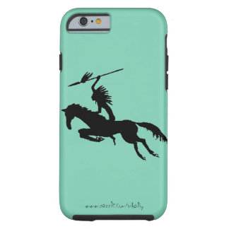 American Indian on horse ink drawing art case