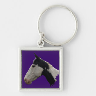 American Indian Paint Horse Keychain