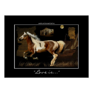 American Indian Painted Pony Horse -lover Print