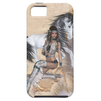 American Indian Princess and White Horse iPhone SE/5/5s Case