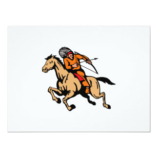 American Indian Riding Horse Bow And Arrow Custom Invites