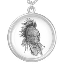 American Indian Silver Plated Necklace