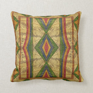 American Indian Sioux Parfleche Style Pillow Throw