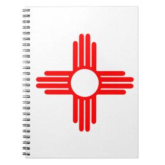 American Indian Sun Symbol Spiral Notebook
