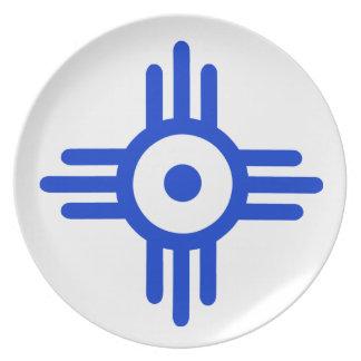 American Indian Symbol Melamine Plate