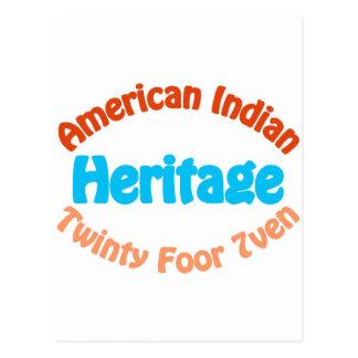 American Indian - Twinty Foor 7ven Postcard