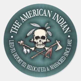 American Indian (Who's The Terrorist?) Classic Round Sticker