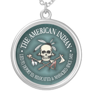 American Indian (Who's The Terrorist?) Silver Plated Necklace