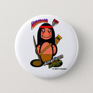 American Indian (with logos) Button