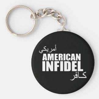 American Infidel Basic Round Button Keychain