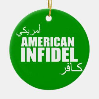 American Infidel Ceramic Ornament