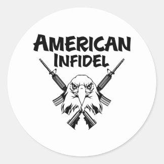 American Infidel Eagle Classic Round Sticker