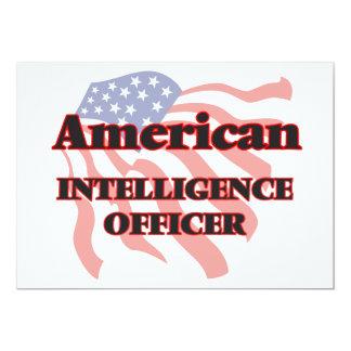 American Intelligence Officer 5x7 Paper Invitation Card