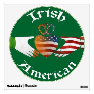 American Irish Claddagh Design Wall Cling Wall Sticker