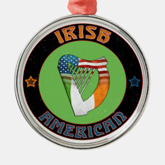American Irish Harp Ornament