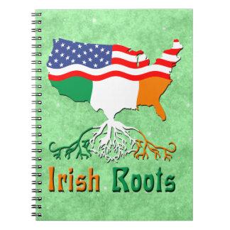 American Irish Roots Notepad Notebook
