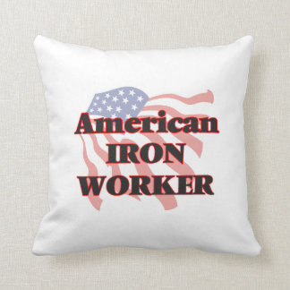 American Iron Worker Throw Pillow