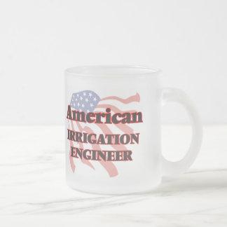 American Irrigation Engineer 10 Oz Frosted Glass Coffee Mug