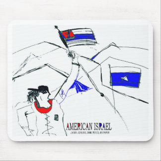 AMERICAN ISRAEL MOUSE PAD