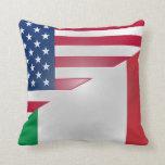 American Italian Flag American MoJo Pillow
