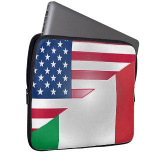 American Italian Flag Neoprene Laptop Sleeve