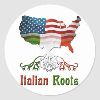 American Italian Roots Classic Round Sticker